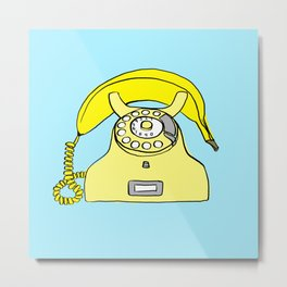 Banana Phone Metal Print