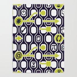 geek spirit (Acid green) Poster