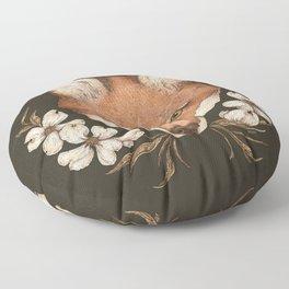 The Fox and Dogwoods Floor Pillow