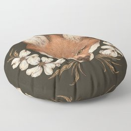 The Fox and Dogwoods Floor Pillow