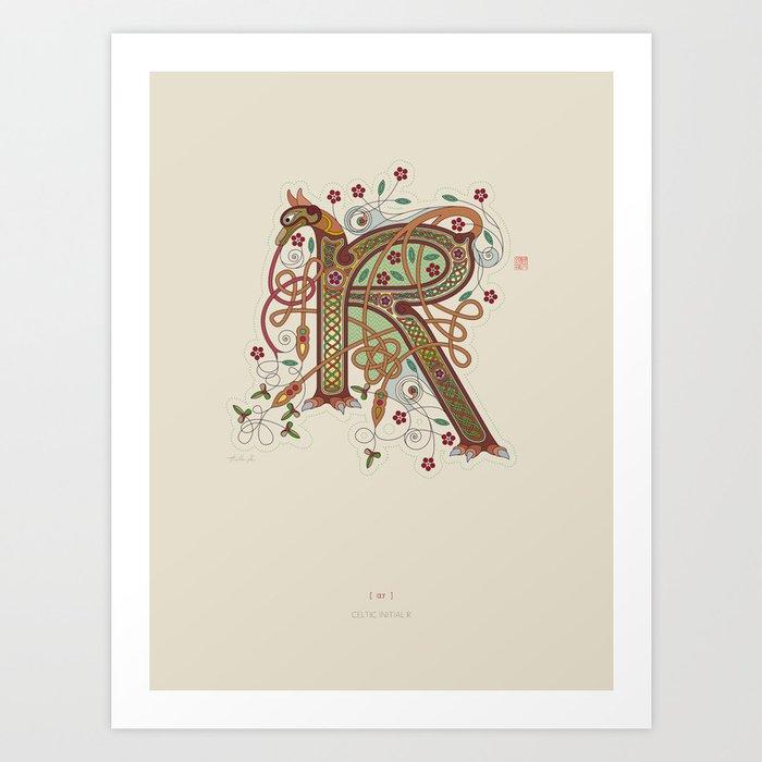 Celtic Initial R Art Print