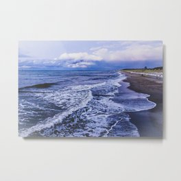 At night by the sea Metal Print