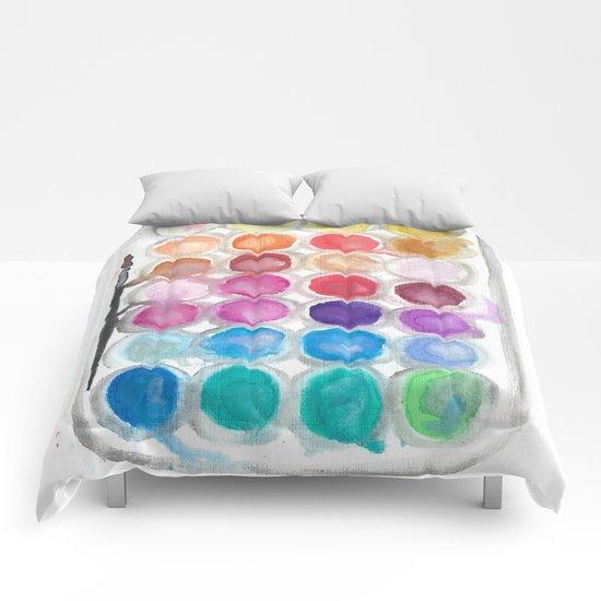 Watercolor Set Comforters
