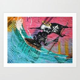 Sailing Skeleton  Art Print
