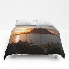 An Amazing Sunset Over First Beach Comforters