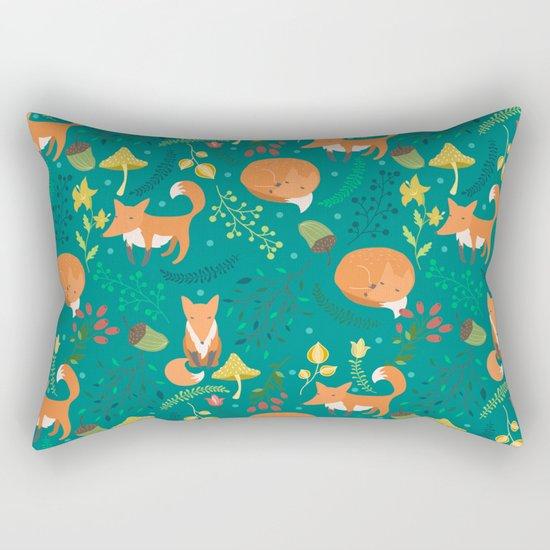 Foxes pattern Rectangular Pillow