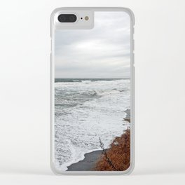 Land and Sea and the line Between Clear iPhone Case