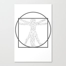 The vitruvian triangles Canvas Print