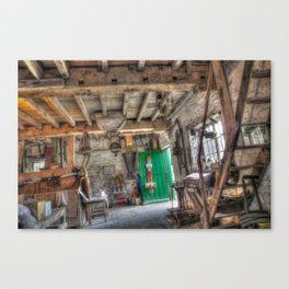 New Hall Water Mill Canvas Print