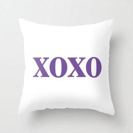 Purple XOXO Throw Pillow