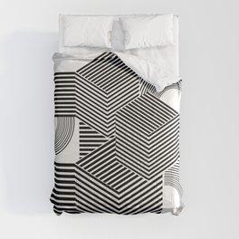 Black white geometric abstract modern Comforters