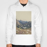 bag Hoodies featuring Mountain Flowers by Kurt Rahn