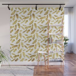 Gold Feather Wall Mural