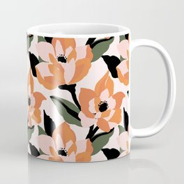 Bold orange poppy on a soft pink base Coffee Mug