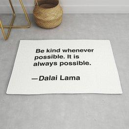 Dalai Lama on Kindness Rug