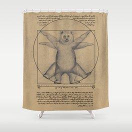 The Vitruvian Bear Shower Curtain
