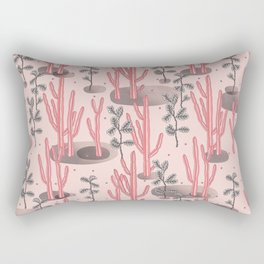 Pink tropical garden Rectangular Pillow