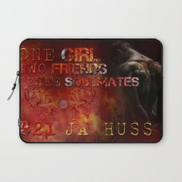 321 - One Girl, Two Friends, Three Soulmates with dragons (square) Laptop Sleeve