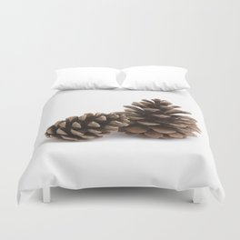 Two pinecones Duvet Cover