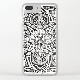 Doodles and Bits Clear iPhone Case