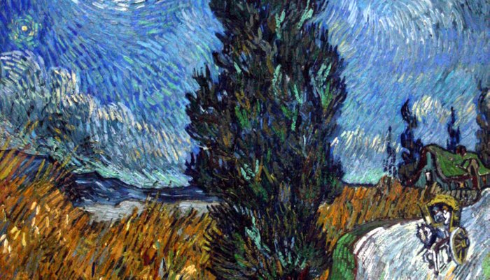 Vincent van Gogh - Road with Cypress and Star Pillow Sham