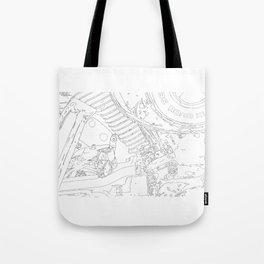 cycle detail, drawing 1 Tote Bag