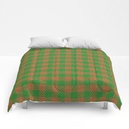 Abiquiú, Bourbon on Forest Green Ungulate Plaid Comforters