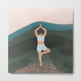 Meditation in the mountains  Metal Print