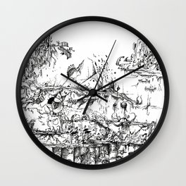Maldives Islands Wall Clock