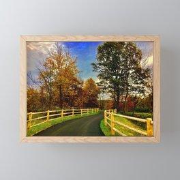 Jogging Trail Framed Mini Art Print