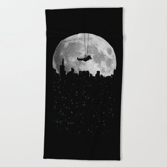 The Moon Swing Beach Towel