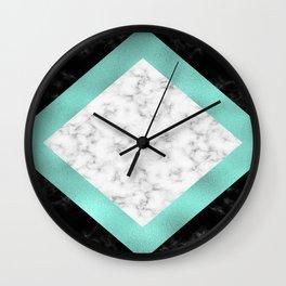 Mint marble Wall Clock