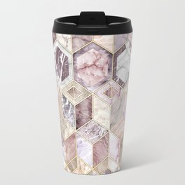 Blush Quartz Honeycomb Travel Mug