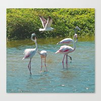 lovers Canvas Prints featuring Lovers by CrismanArt