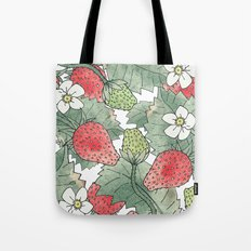The Strawberry Patch Tote Bag