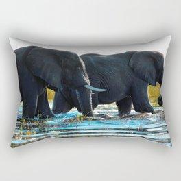 Elephants (Color) Rectangular Pillow