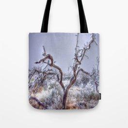 Flocked Tree Tote Bag
