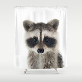 Baby Racoon Shower Curtain