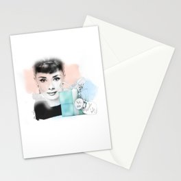 Audrey Hepburn Illustration Breakfast at Tiffany Stationery Cards