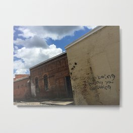 Stop being boring brick wall Alabama Metal Print