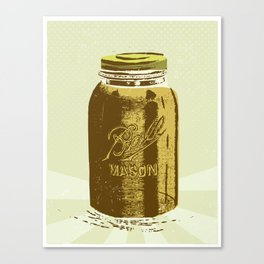 Mason Jar Canvas Print