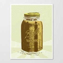 Mason Jar Canvas Print