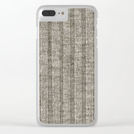 Soft Brown Jersey Knit Pattern Clear iPhone Case