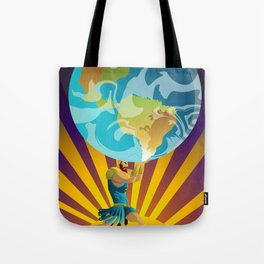 atlas holding the world Tote Bag