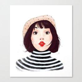 French woman Canvas Print