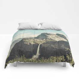 Yosemite Valley Waterfall Comforters