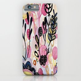 Gilded Abstract Print iPhone Case