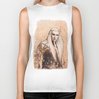 thranduil Biker Tanks featuring thranduil oropherion by LindaMarieAnson