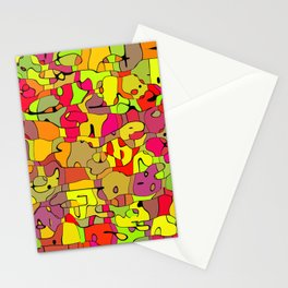 Abstract animals Stationery Cards