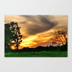 April East Texas Sunset Canvas Print